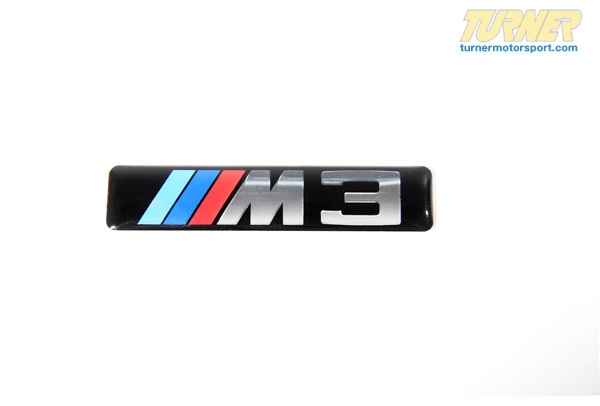 T#16064 - 51137893023 - Side Grille Emblem with M3 logo - E46 M3 - Genuine BMW - BMW