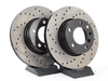 T#2759 - 34116772669CD - Cross-Drilled Brake Rotors - Front - E82, E9X (pair) - StopTech - BMW