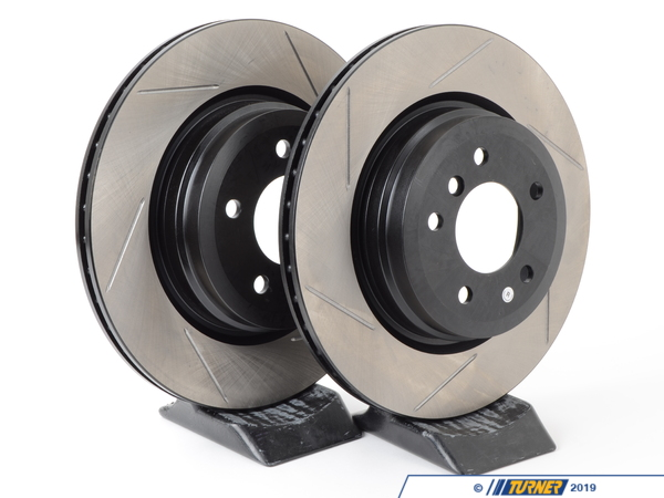 T#3594 - 34216764655GS - Gas-Slotted Brake Rotors (Pair) - Rear - E90 330i 330xi 335i 335xi E92 335i 335xi - StopTech - BMW