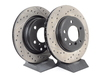 T#12046 - 34211165563CDS - Cross-Drilled & Slotted Brake Rotors - Rear - E46 325i/328i (pair) - StopTech - BMW