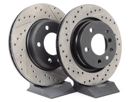 Cross-Drilled & Slotted Brake Rotors - Front - E46 325i/328i, Z3 3.0, Z4 3.0i (pair)