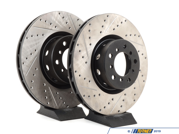 T#14294 - TMS14294 - Cross-Drilled & Slotted Brake Rotors - Front - E39 M5 (US Spec) (pair) - StopTech - BMW