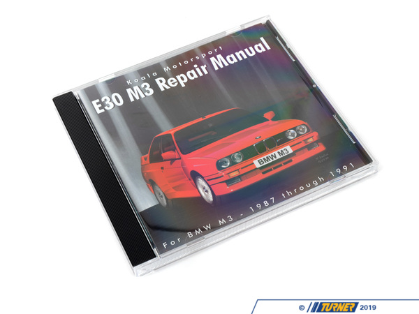Koala Motorsport E30 M3 CD-ROM Repair Manual E30M3REPAIR