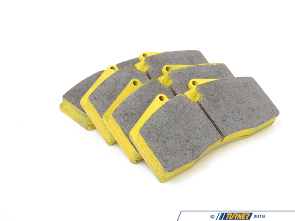 T#2519 - TMS2519 - StopTech Calipers ST40 ST45 - Race Brake Pad Set - Pagid RS19 Yellow - Pagid Racing - BMW MINI