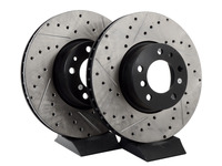 Cross-Drilled & Slotted Brake Rotors - Front - E39 540i (up to 3/00), E38 740i/il, E31 (pair)
