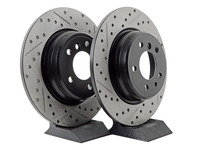 Cross-Drilled & Slotted Brake Rotors - Rear - E31 840/850, E38 740i & 740il (Pair)
