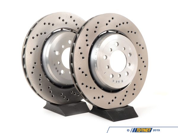 T#1589 - TMS1589 - Front Brake Rotors - MZ4 M Roadster / M Coupe (Pair) - Genuine BMW - BMW