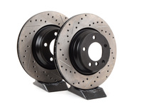 Cross-Drilled & Slotted Brake Rotors - Front - E90 330i & 330xi (Pair)