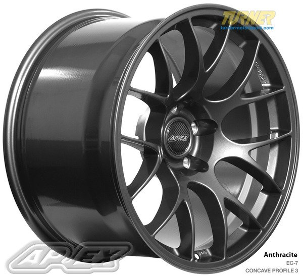 "T#222779 - EC71811ET44AN - APEX EC-7 18x11"" ET44 Anthracite Wheel 23.35lbs -PROFILE 3 - APEX Wheels -"