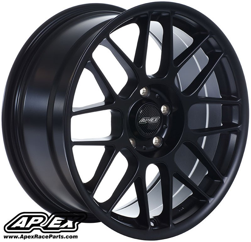 Arc8179et42smbk Apex Arc 8 17x9 Quot Et42 Satin Black Wheel