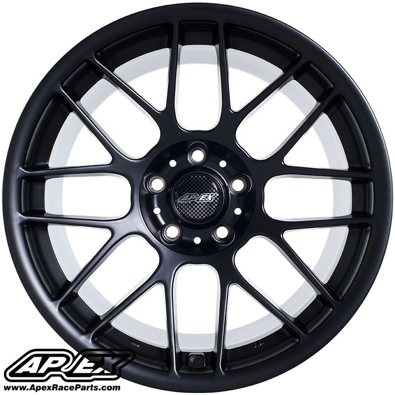 Arc81810et25smbk Apex Arc 8 18x10 Quot Et25 Satin Black