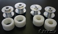 Rear Subframe Bushings/Mount Set - Turner Solid Delrin/Aluminum - E46, E46 M3