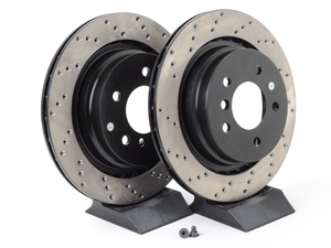 Cross-Drilled Brake Rotors - Rear - E36 M3 / M Coupe / Roadster (pair)