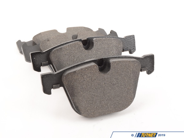 T#15910 - 34216794879 - OEM Pagid Rear Brake Pads - E70 X5M, E71 X6M - These are the OEM Pagid front brake pads to fit the front of the E70 X5 M and E71 X6 M. BMW used several different suppliers for their brake pads and we buy direct from their distributors to get you the same pad as originally equipped but at a fraction of the cost of the local BMW dealer. OEM brands include Pagid, Textar, Jurid, Ate, and others. These are the same pads as what originally came on your car but without the expensive BMW logo.Price is for one set - enough to replace the pads on both rear calipers.This item fits the following BMWs:2010+  E70 BMW X5M2010+  E71 BMW X6M - Pagid - BMW