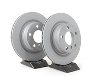 T#351067 - 34216792227zKT - Rear Zimmermann Coated Brake Rotors (300x20) - F22 228, F3X 320i/328i/428i, F33 428i/428iX ULEV (Pair) - Zimmermann - BMW