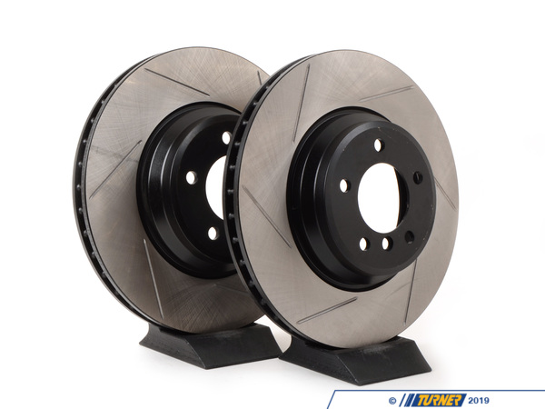 T#2163 - 34116770729GS - Gas-Slotted Brake Rotors (Pair) - Front - E9x 335i / 335xi / 335d - StopTech - BMW