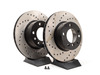 T#3930 - 34111164839CD - Cross-Drilled Brake Rotors - Front - E39 525i/528i (pair) - StopTech - BMW