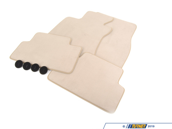 T#113610 - 51479117347 - Genuine BMW Set Of Floor Mats Velours Creambeige - 51479117347 - E63 - Genuine BMW -