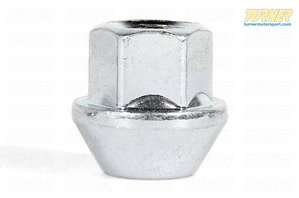 17mm 12x1.5 Turner Silver Zinc-Coated Wheel Nut