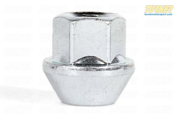 T#4044 - L30038 - 17mm 12x1.5 Turner Silver Zinc-Coated Wheel Nut - Turner Motorsport - BMW MINI