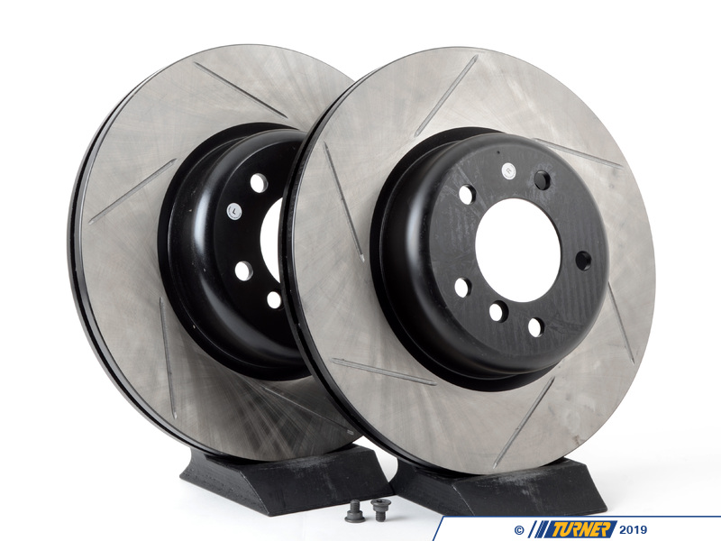 T#2937 - 34116778647GS - Gas-Slotted Brake Rotors (Pair) - Front - E82 135i - StopTech - BMW