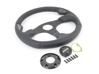 MOMO Jet Steering Wheel - Black - 350mm