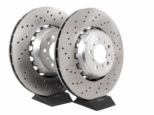 Pair Set of 2 Front Brake Disc Rotors Composite Brembo for F30 F31 F33 F34 F36