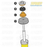 3-series Strut/Shock Mount Kit - E9X Xi AWD