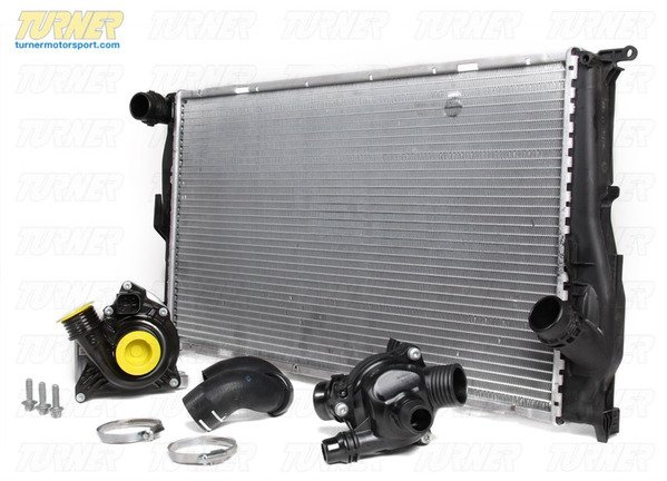 T#340252 - TMS214377 - E82 128i, E9X 328i 6MT Cooling Overhaul Package - Packaged by Turner - BMW