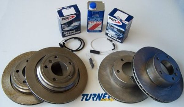 T#340174 - TMS418 - Complete Front & Rear Brake Package - E39 540i 3/2000-2003 - Packaged by Turner - BMW