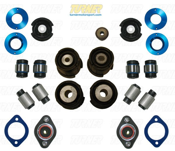 T#340199 - TMS2276 - 3-series Rear Suspension Mount Package - Rubber Street Bushings - E46 M3 - Packaged by Turner - BMW