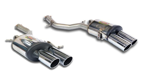 T#340083 - 983076-983056 - F10 550i Supersprint Performance Mufflers (Set) - for M5 Rear Bumper - Supersprint - BMW
