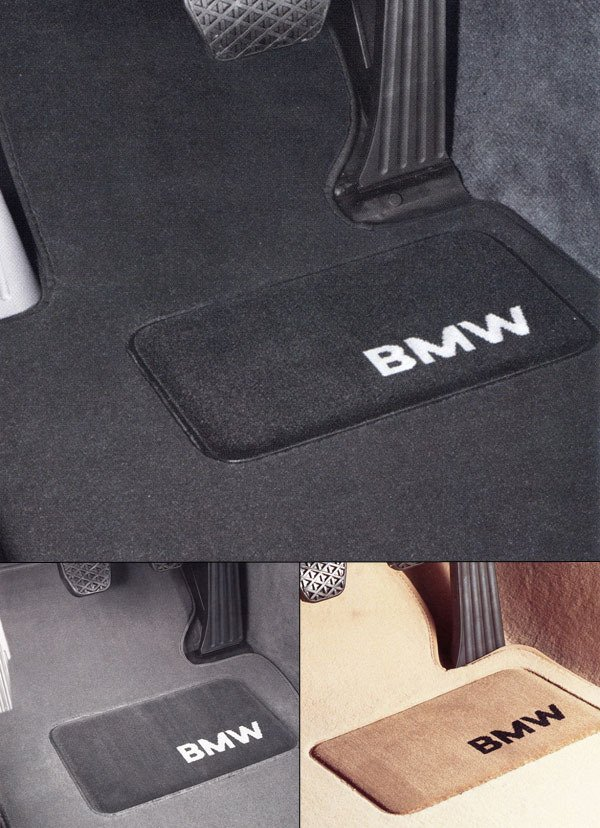 T#340010 - 82112293527x - Genuine BMW E90 Floor Mat Set - 4 piece, Front & Rear - 325xi, 328xi, 330xi, 335xi  - Genuine BMW - BMW