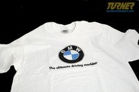 Genuine BMW White T-Shirt with Large Roundel Logo