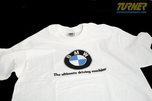 T#340014 - 8222146928x - Genuine BMW White T-Shirt with Large Roundel Logo - Genuine BMW - BMW