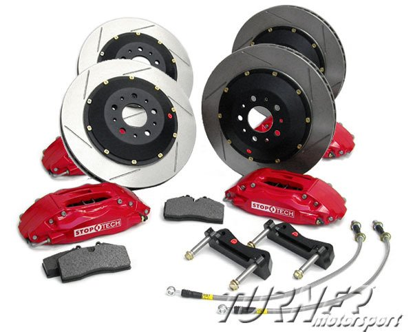 T#340026 - 83.135.4747 - StopTech Front & Rear Big Brake Kit - E39 540i, M5 - StopTech - BMW