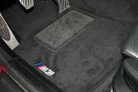 Genuine BMW M3 Logo Floor Mat Set for 2006+ 3 Series (E90, E92, E93)