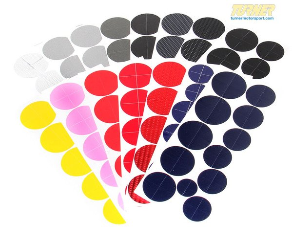T#338967 - TMS4790 -  Colored Roundel Emblem Cover Set - Hood/Trunk/Wheels/Steering Wheel - Turner Motorsport - BMW