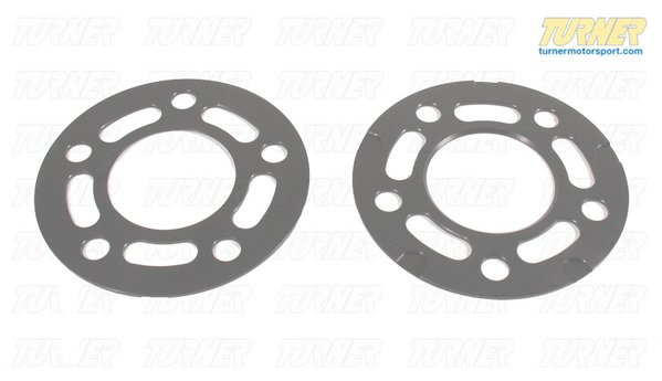 T#339030 - TWHF9905F04 - Turner BMW 3mm Big Pad Wheel Spacers (Pair) - Most BMWs (see applications) - Turner Motorsport -