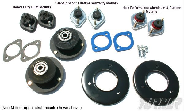 T#338692 - TMS338692 - 3-series Strut/Shock Mount Kit - E36 M3 95 - Turner Motorsport - BMW