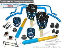 Turner E46 M3 TrackSport PLUS Suspension Kit (Bonus Bundle!)