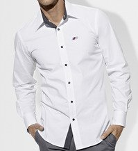 Genuine BMW Mens Button Down Shirt - White