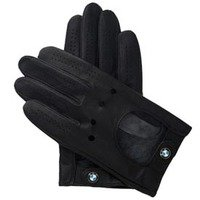Genuine BMW Mens Driving Gloves with Roundel Logo