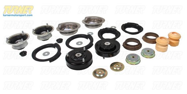 T#338707 - TMS182510 - 5-series Strut/Shock Mount Kit - E39 525i/528i/530i with Performance Shocks/Springs - Packaged by Turner - BMW