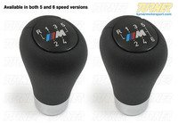 Manual BMW Shift Knob - ZHP Style Weighted Anatomic - 5 or 6 Speed Pattern