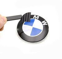Carbon Fiber Roundel Emblem Decal Set - Hood/Trunk/Wheels/Steering Wheel