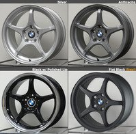 E36, E46, E82, E9X, Z3, Z4 D-Force LTW5 17x9.0 Square Race Wheel Set