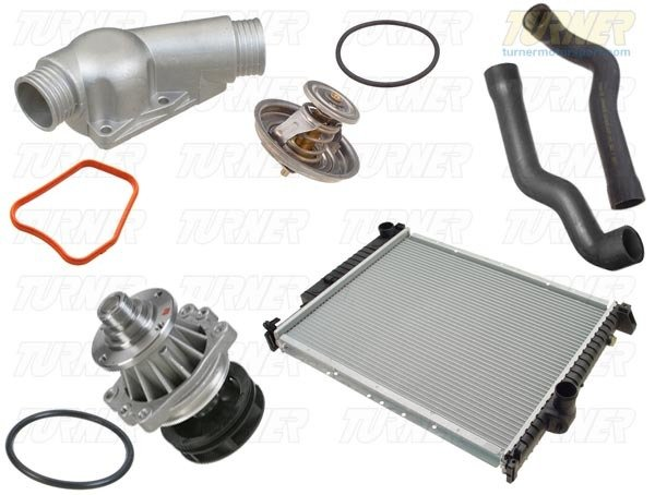 T#339091 - TMS16426 - Complete Cooling System Overhaul Package - 1997-1998 Z3 2.8 M52, 1998-2000 MZ3 S52 - Packaged by Turner - BMW
