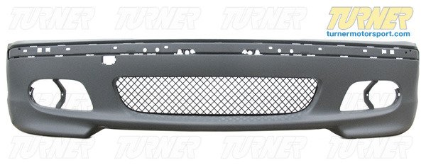 T#338733 - TMS1657 - E46 M-Tech (ZHP) Style Front Spoiler w/ Foglights (Choose 2 or 4 Door) - Turner Motorsport - BMW