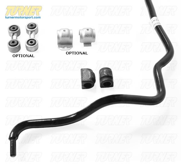 T#338670 - TMS16594 - BMW Rear 20mm Nurburgring Sway Bar Upgrade - E34 525i, 530i, 535i, 540i & M5 - Genuine European BMW - BMW